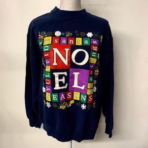 Vintage 90s NOEL Graphic Ugly Christmas Sweatshirt